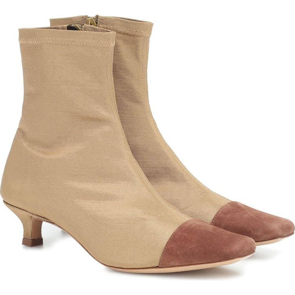バイ ファー By Far レディース ブーツ ショートブーツ シューズ・靴【karl suede-trimmed ankle boots】Gold Gd