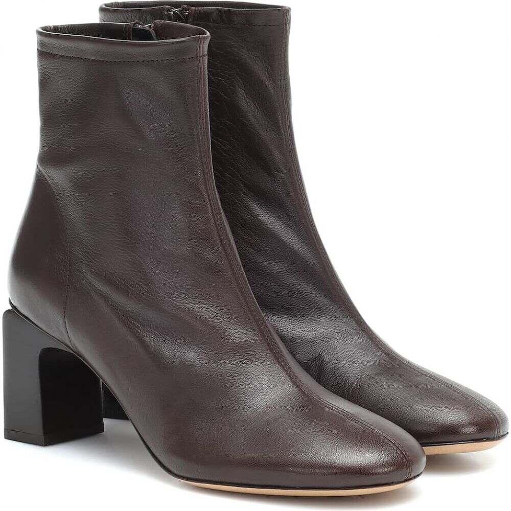 バイ ファー By Far レディース ブーツ ショートブーツ シューズ・靴【vasi leather ankle boots】Dark Brown DW