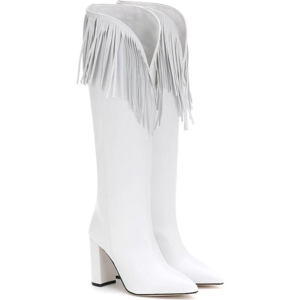 パリ テキサス Paris Texas レディース ブーツ シューズ・靴【fringed leather boots】White