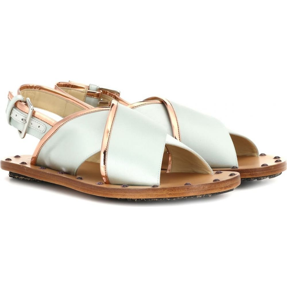 マルニ Marni レディース サンダル・ミュール シューズ・靴【leather sandals】Pearl Blue