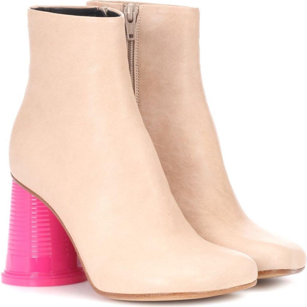 メゾン マルジェラ MM6 Maison Margiela レディース ブーツ ショートブーツ シューズ・靴【leather ankle boots】Sand/Pink