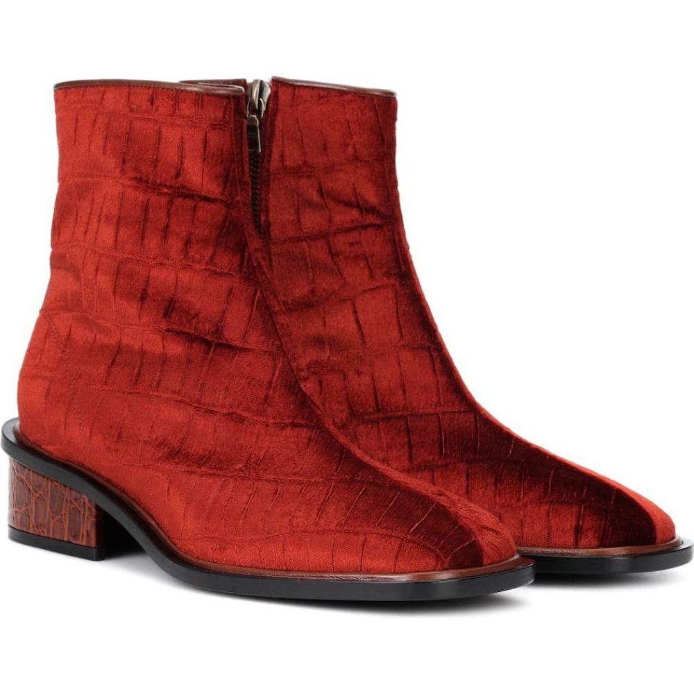 ドリス ヴァン ノッテン Dries Van Noten レディース ブーツ ショートブーツ シューズ・靴【velvet ankle boots】Dark Red