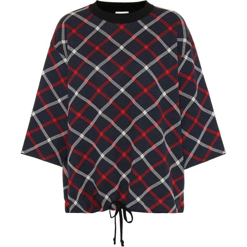 ドリス ヴァン ノッテン Dries Van Noten レディース ニット・セーター トップス【plaid wool-blend sweater】navy
