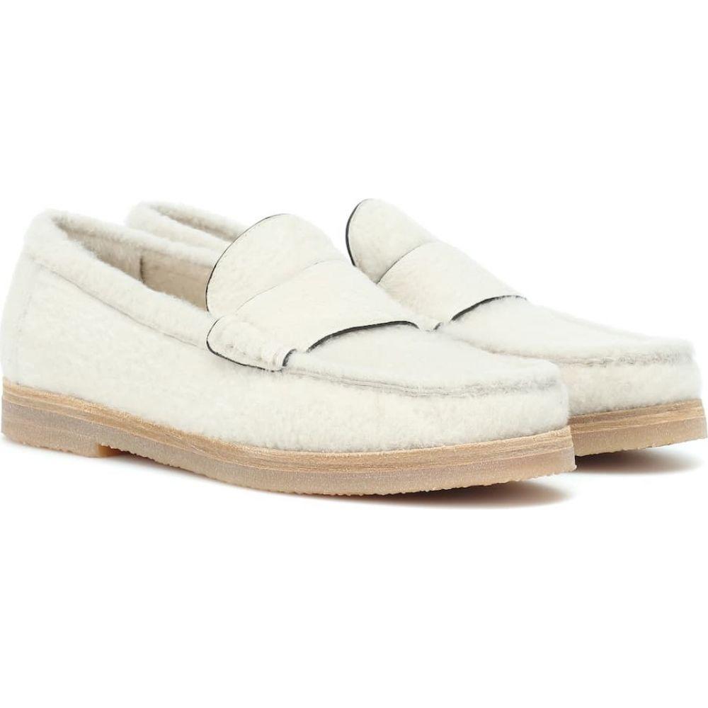 スチュアート ワイツマン Stuart Weitzman レディース ローファー・オックスフォード シアリング シューズ・靴【bromley shearling loafers】cream