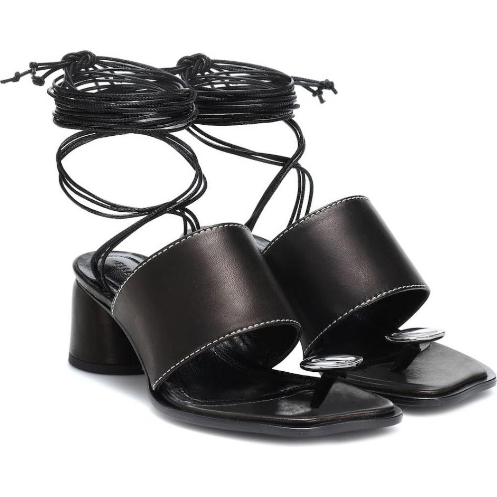 エラリー Ellery レディース サンダル・ミュール シューズ・靴【leather sandals】black