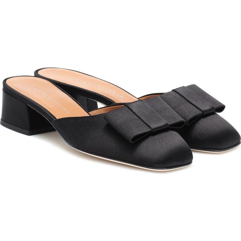ヴィクトリア ベッカム Victoria Beckham レディース サンダル・ミュール シューズ・靴【harper satin mules】Black