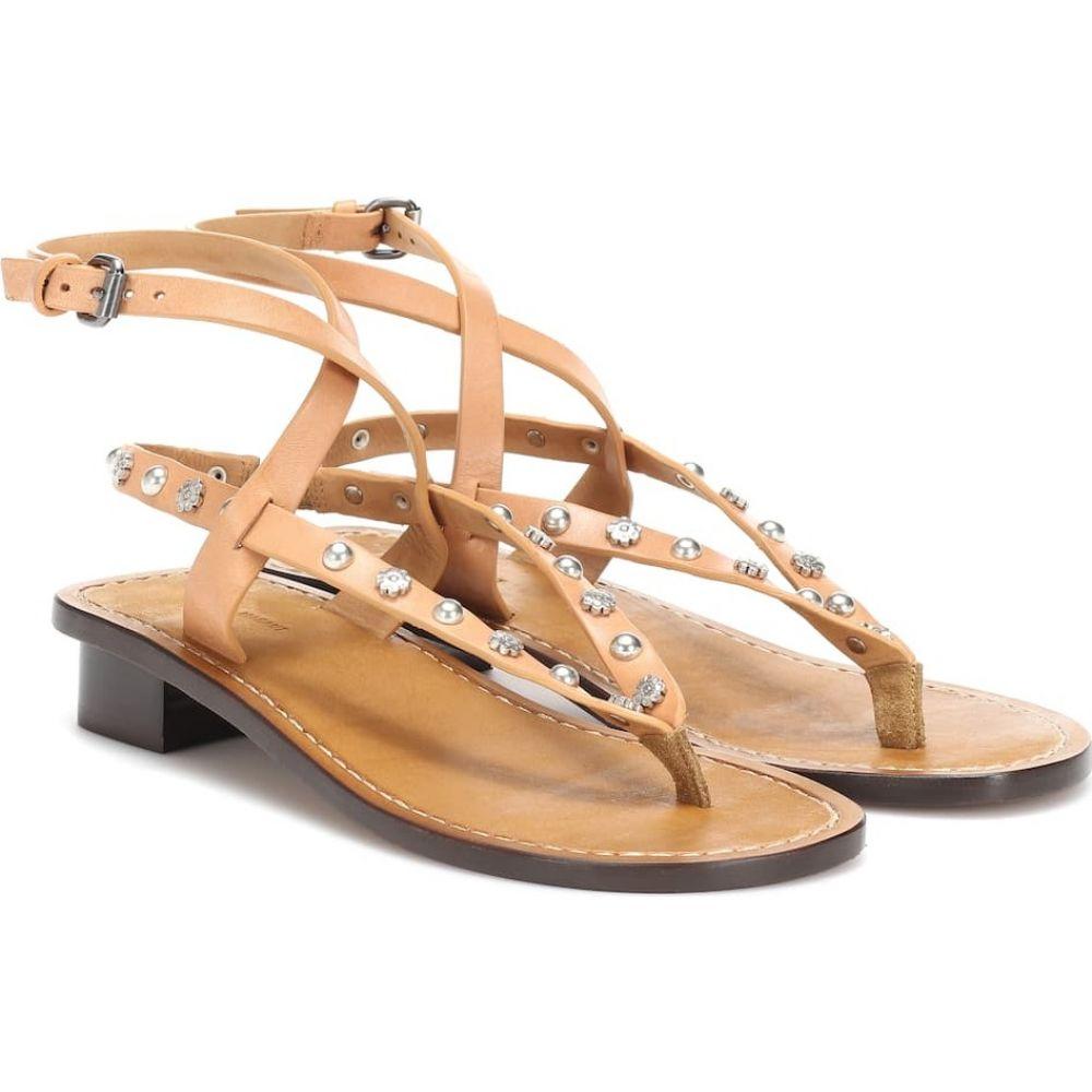 イザベル マラン Isabel Marant レディース サンダル・ミュール シューズ・靴【jings embellished leather sandals】brown