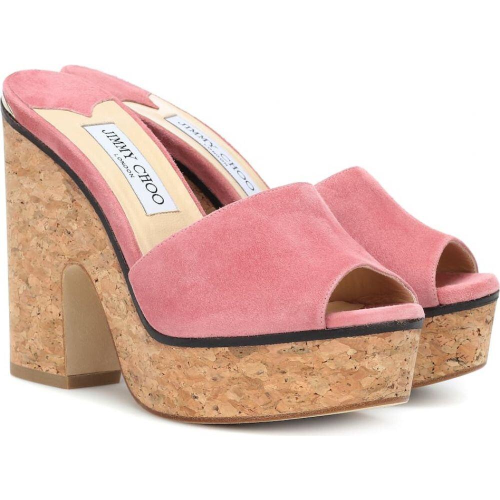 ジミー チュウ Jimmy Choo レディース サンダル・ミュール シューズ・靴【deedee 125 suede sandals】Rosewood