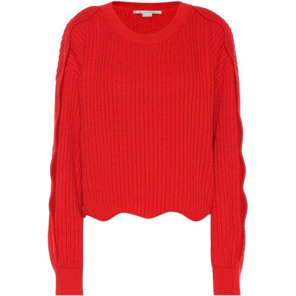 ステラ マッカートニー Stella McCartney レディース ニット・セーター トップス【cotton and wool sweater】spark red