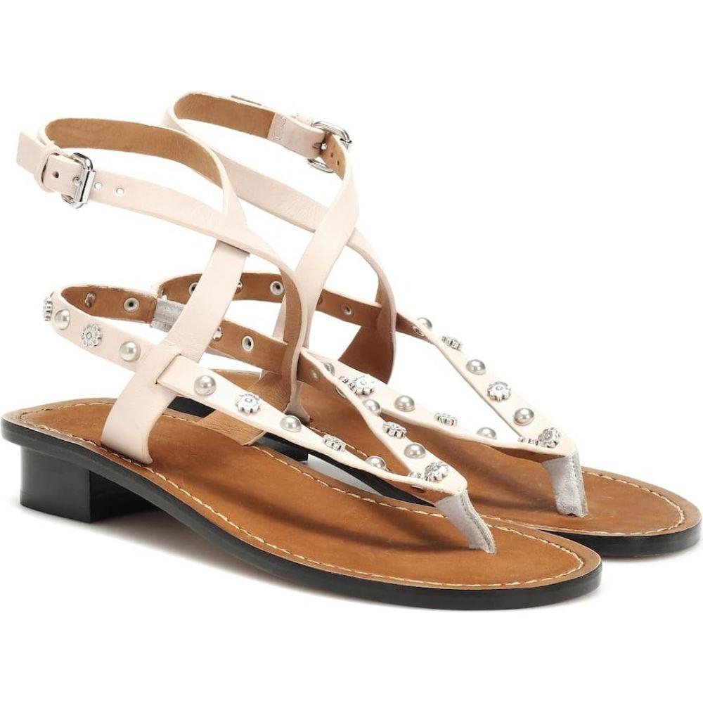 イザベル マラン Isabel Marant レディース サンダル・ミュール シューズ・靴【jings embellished leather sandals】Ecru