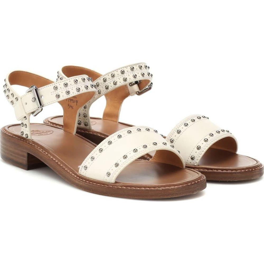 チャーチ Church's レディース サンダル・ミュール シューズ・靴【studded leather sandals】White