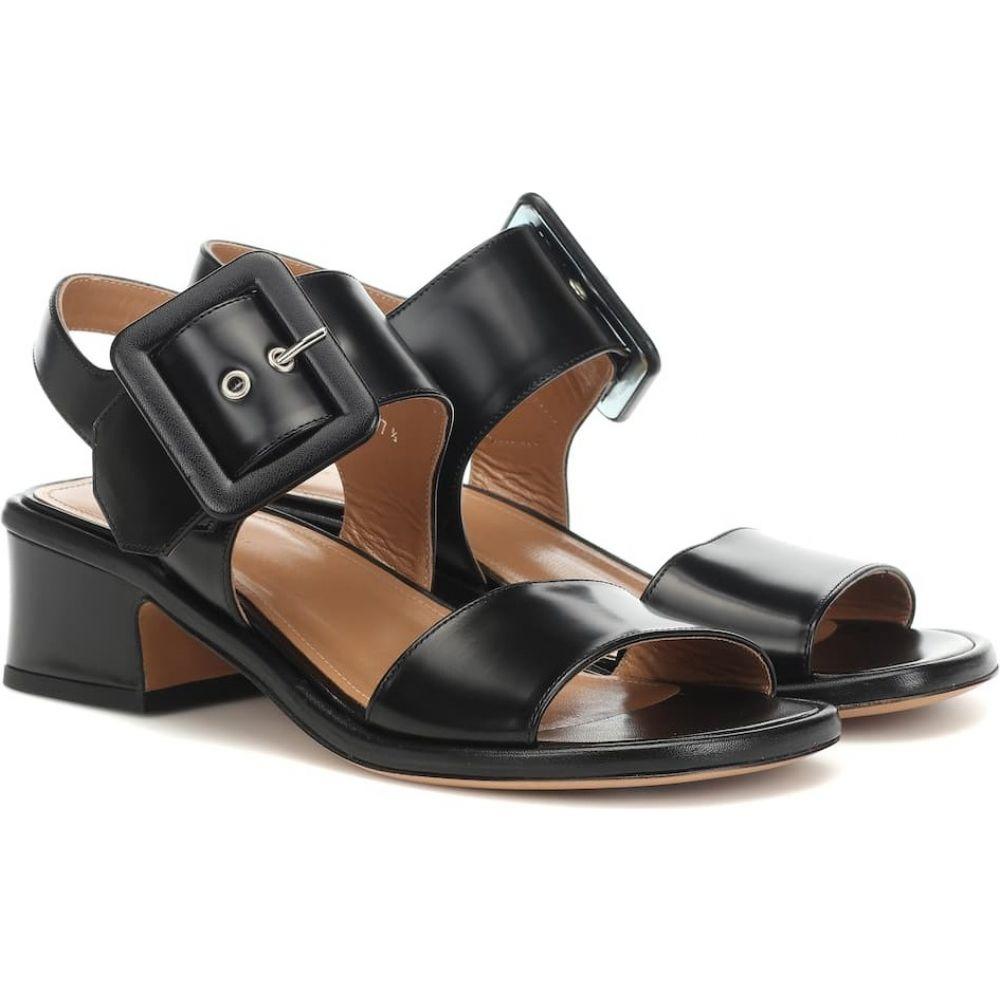 ドリス ヴァン ノッテン Dries Van Noten レディース サンダル・ミュール シューズ・靴【leather sandals】Black