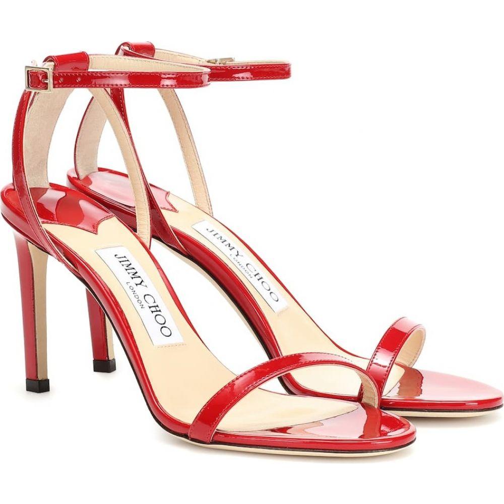 ジミー チュウ Jimmy Choo レディース サンダル・ミュール シューズ・靴【minny 85 leather sandals】red