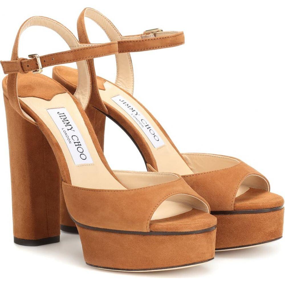 ジミー チュウ Jimmy Choo レディース サンダル・ミュール シューズ・靴【peachy 125 suede plateau sandals】cuoio