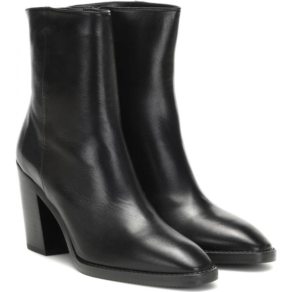 スチュアート ワイツマン Stuart Weitzman レディース ブーツ ショートブーツ シューズ・靴【wynter 80 leather ankle boots】Black