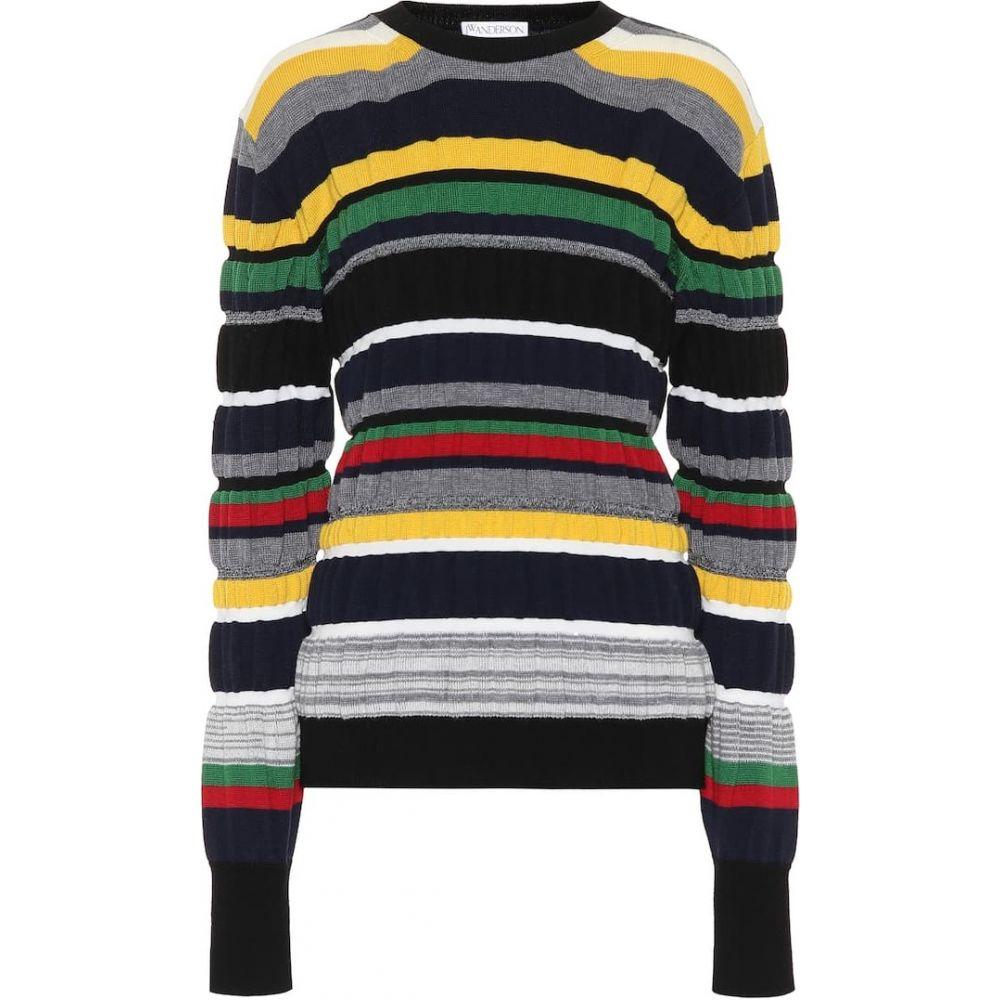 J.W.アンダーソン JW Anderson レディース ニット・セーター トップス【striped ribbed-knit sweater】Navy