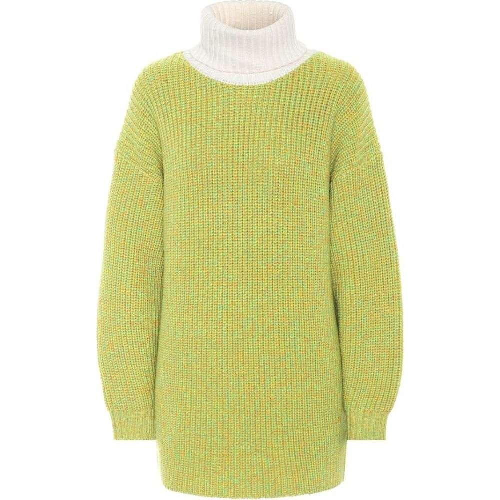 ティビ Tibi レディース ニット・セーター トップス【tweedy wool oversized sweater】Green Ivory Multi