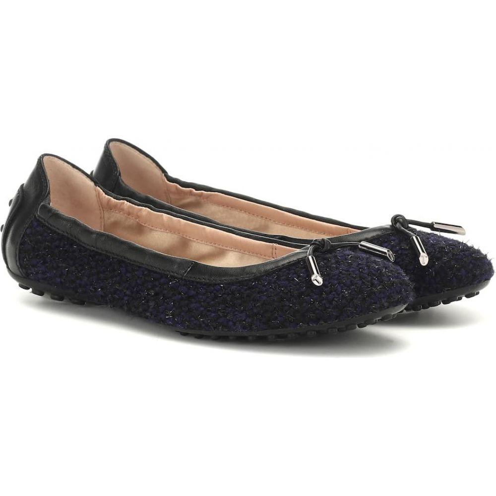 トッズ Tod's レディース スリッポン・フラット シューズ・靴【gommino tweed ballet flats】biro chiaro