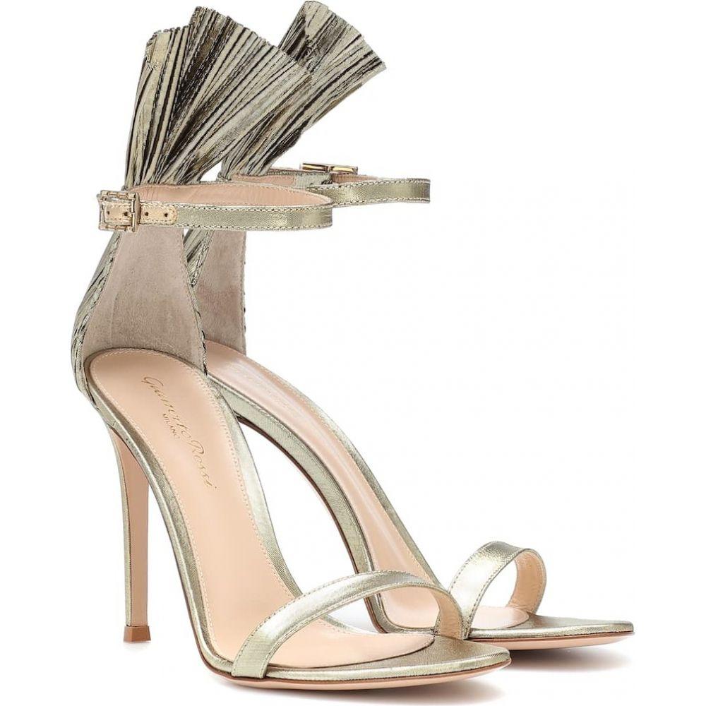 ジャンヴィト ロッシ Gianvito Rossi レディース サンダル・ミュール シューズ・靴【belvedere lame sandals】mekong