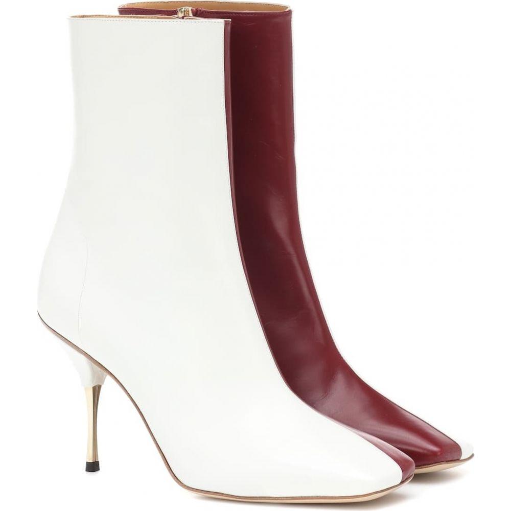 ペーター ペトロフ Petar Petrov レディース ブーツ ショートブーツ シューズ・靴【svea leather ankle boots】Wine/White