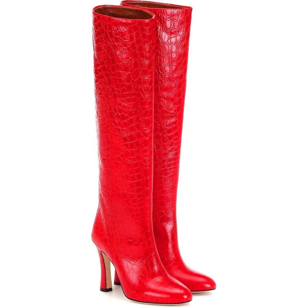 パリ テキサス Paris Texas レディース ブーツ シューズ・靴【croc-effect leather boots】Rosso