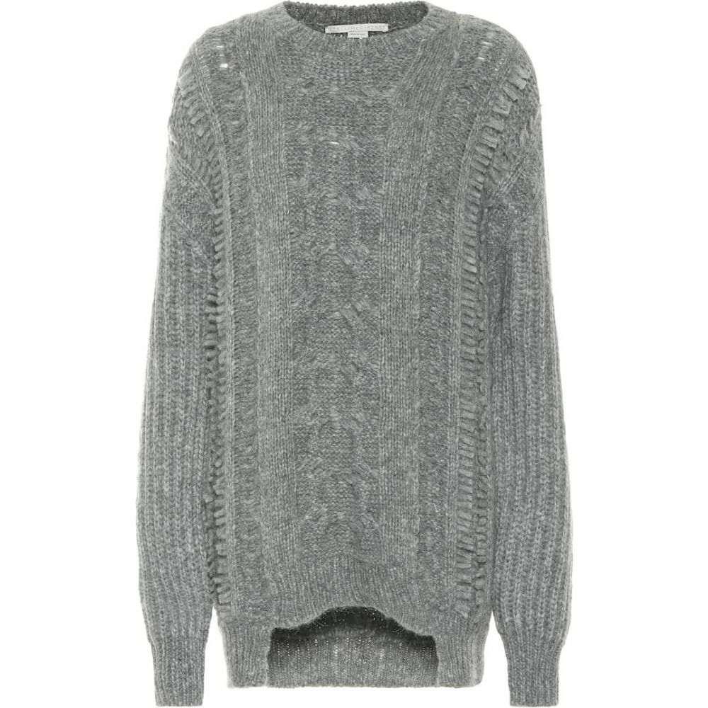 ステラ マッカートニー Stella McCartney レディース ニット・セーター トップス【alpaca and wool-blend sweater】Grey Melange