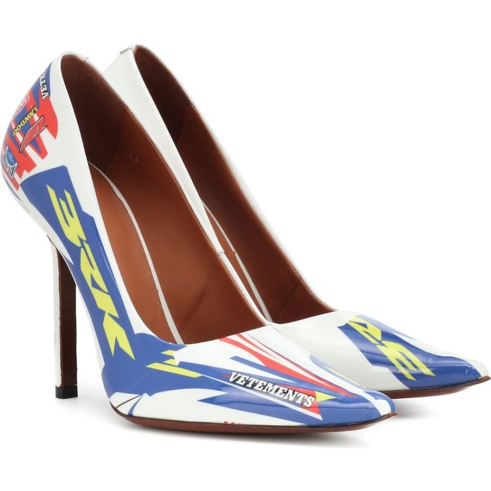 ヴェトモン Vetements レディース パンプス シューズ・靴【printed patent leather pumps】White/Multicolor