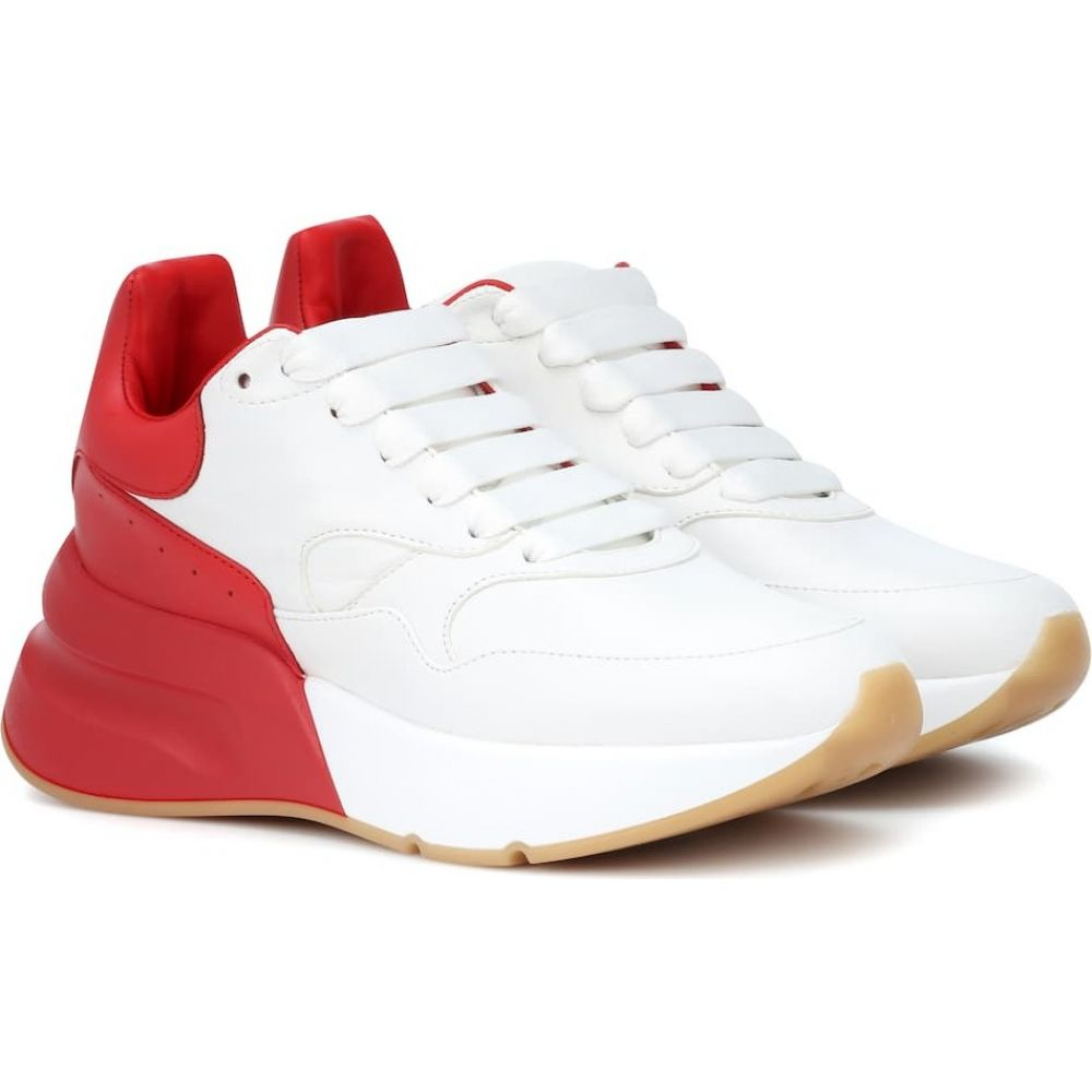 アレキサンダー マックイーン Alexander McQueen レディース ランニング・ウォーキング スニーカー シューズ・靴【oversized runner leather sneakers】Op.White/Lust Red