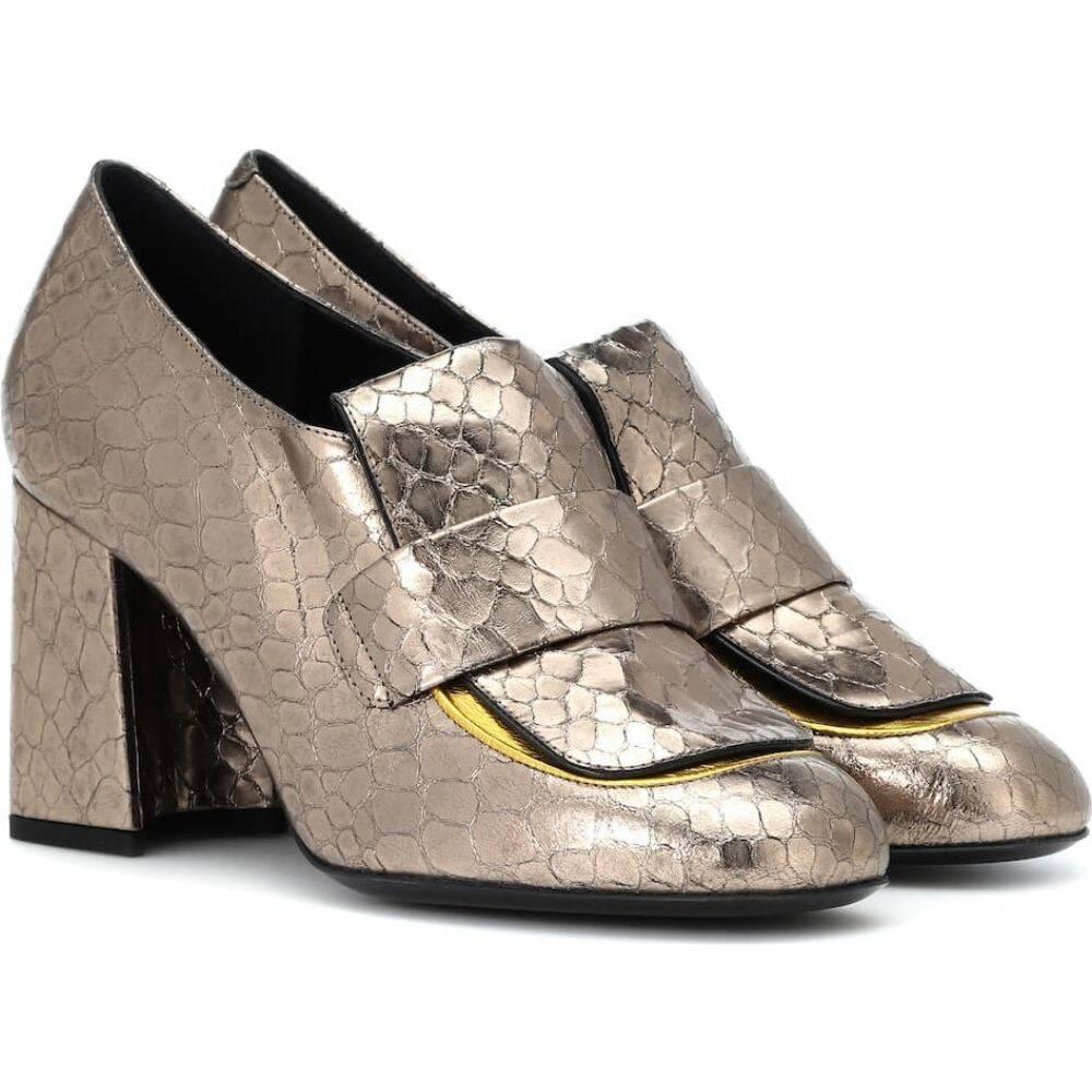 ドリス ヴァン ノッテン Dries Van Noten レディース パンプス シューズ・靴【metallic leather pumps】Silver