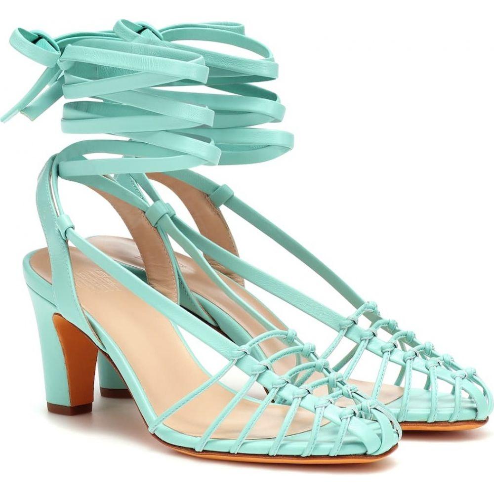 マリアム ナッシアー ザデー Maryam Nassir Zadeh レディース サンダル・ミュール シューズ・靴【maribel leather sandals】seafoam