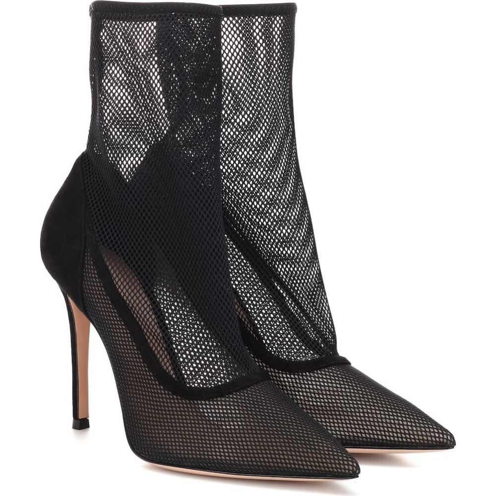 ジャンヴィト ロッシ Gianvito Rossi レディース ブーツ ショートブーツ シューズ・靴【erin mesh ankle boots】Black Black
