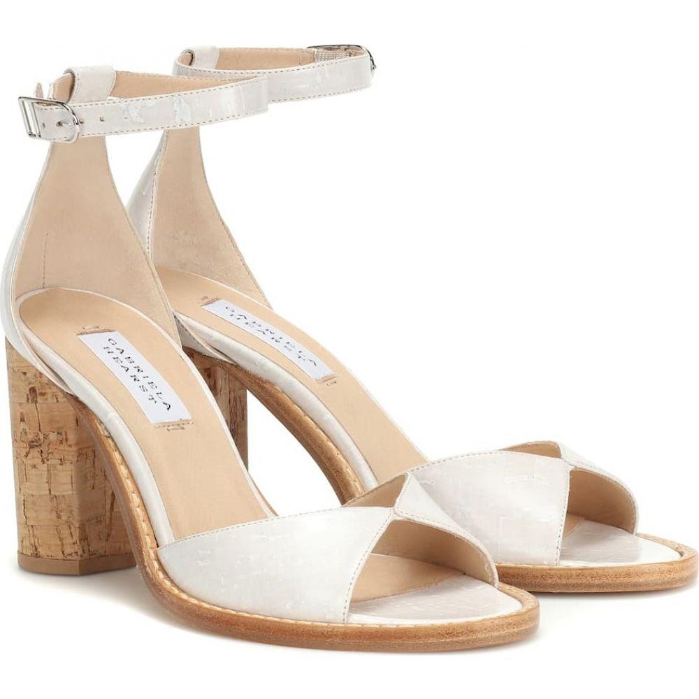 ガブリエラ ハースト Gabriela Hearst レディース サンダル・ミュール シューズ・靴【adi leather and cork sandals】cream