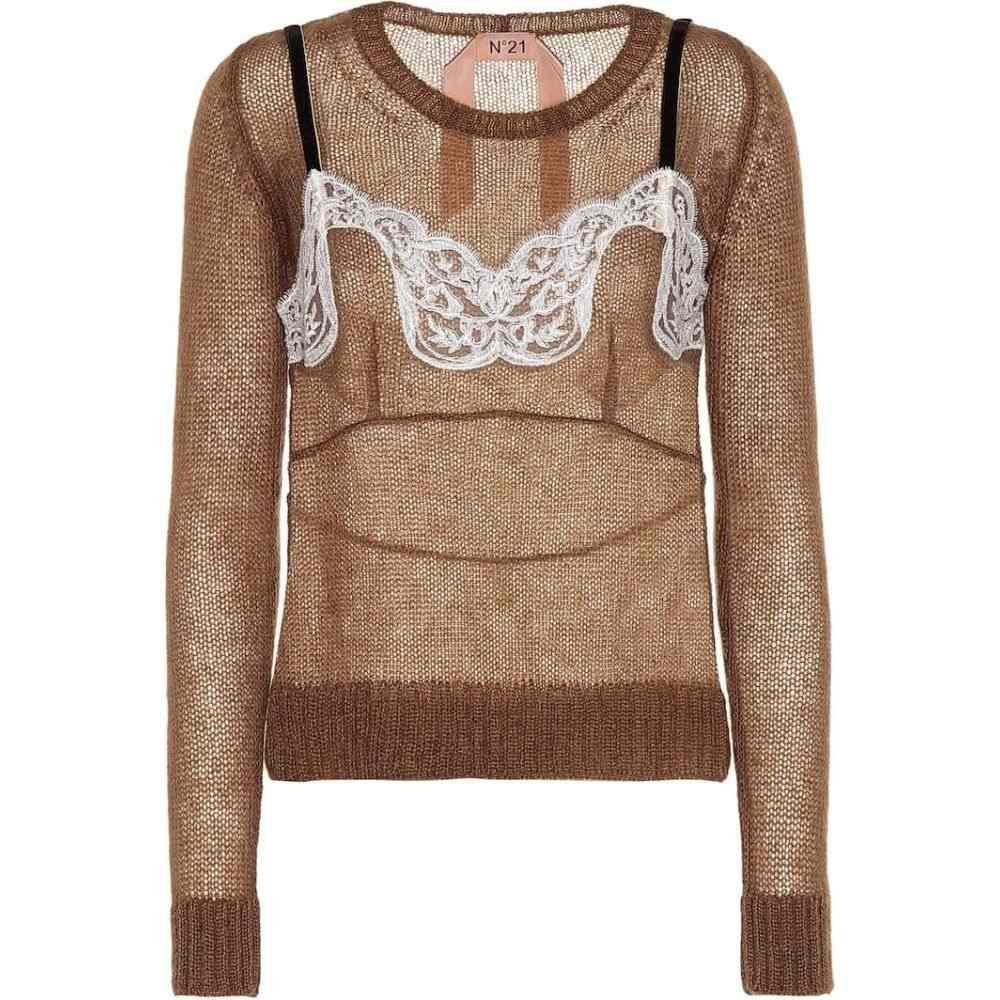 ヌメロ ヴェントゥーノ N21 レディース ニット・セーター トップス【mohair and wool-blend sweater】
