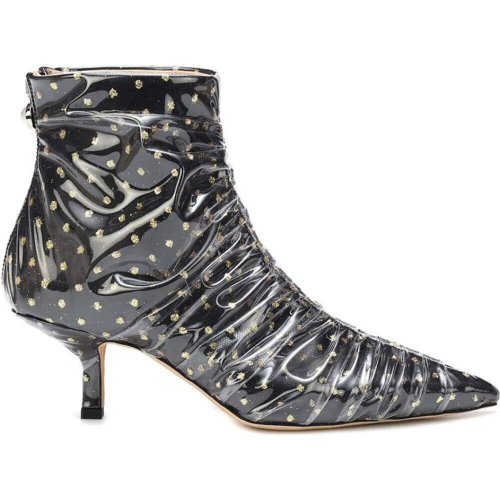 ミッドナイト 00 Midnight 00 レディース ブーツ ショートブーツ シューズ・靴 tulle and pvc ankle boots Black GoldMqzGLUSVp
