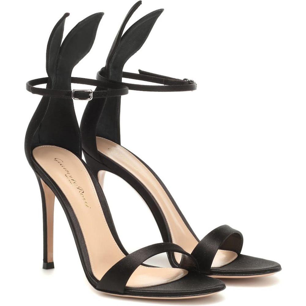 ジャンヴィト ロッシ Gianvito Rossi レディース サンダル・ミュール シューズ・靴【satin sandals】Black