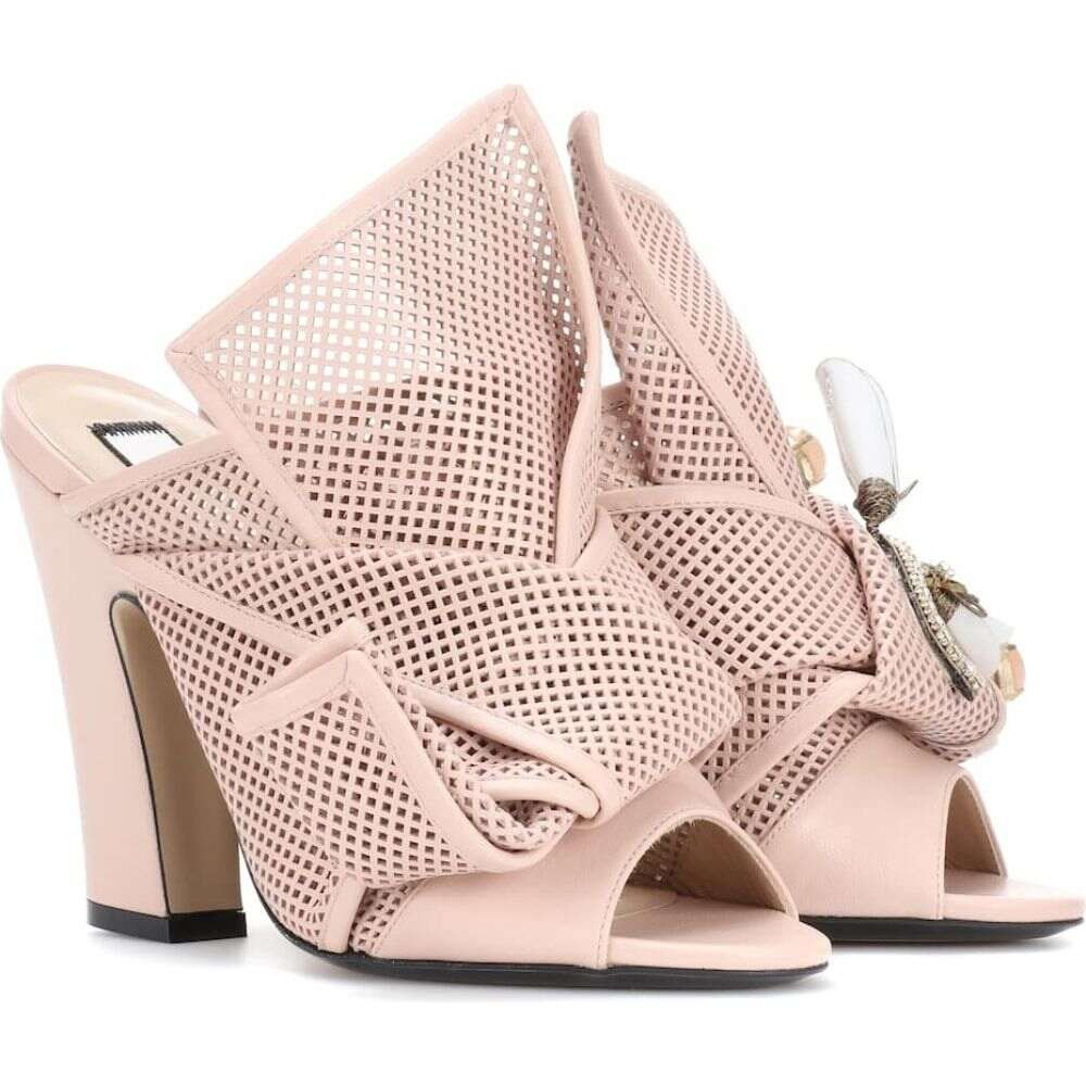 ヌメロ ヴェントゥーノ N21 レディース パンプス オープントゥ シューズ・靴【knotted leather open-toe pumps】Nude