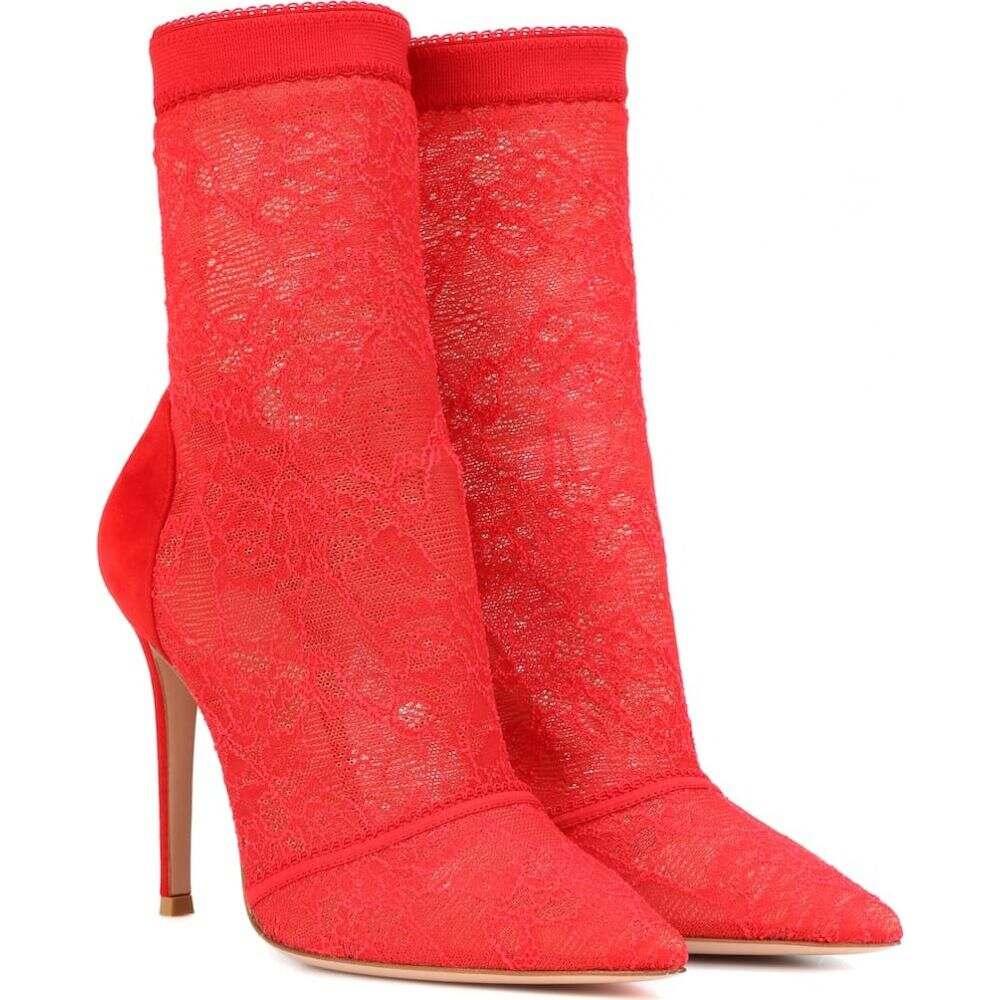 ジャンヴィト ロッシ Gianvito Rossi レディース ブーツ ショートブーツ シューズ・靴【brinn lace ankle boots】Tabasco Red