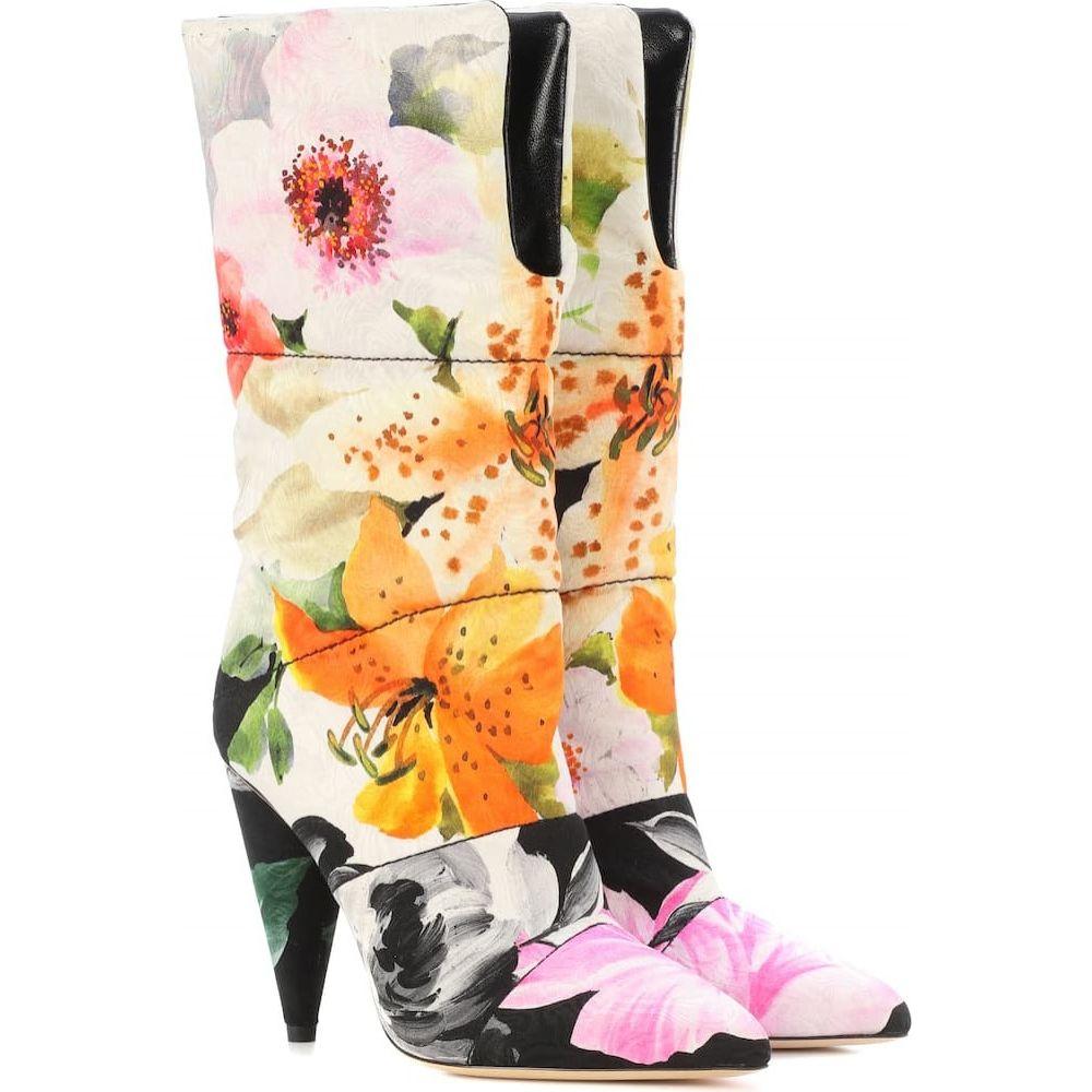 ジミー チュウ Jimmy Choo レディース ブーツ シューズ・靴【x off-white sara 100 floral jacquard boots】Flower Mix