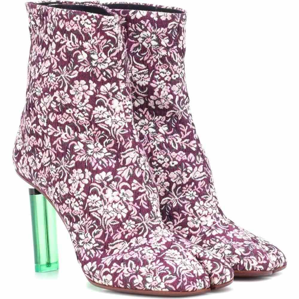 ヴェトモン Vetements レディース ブーツ ショートブーツ シューズ・靴【split-toe lighter ankle boots】Purple/Floral