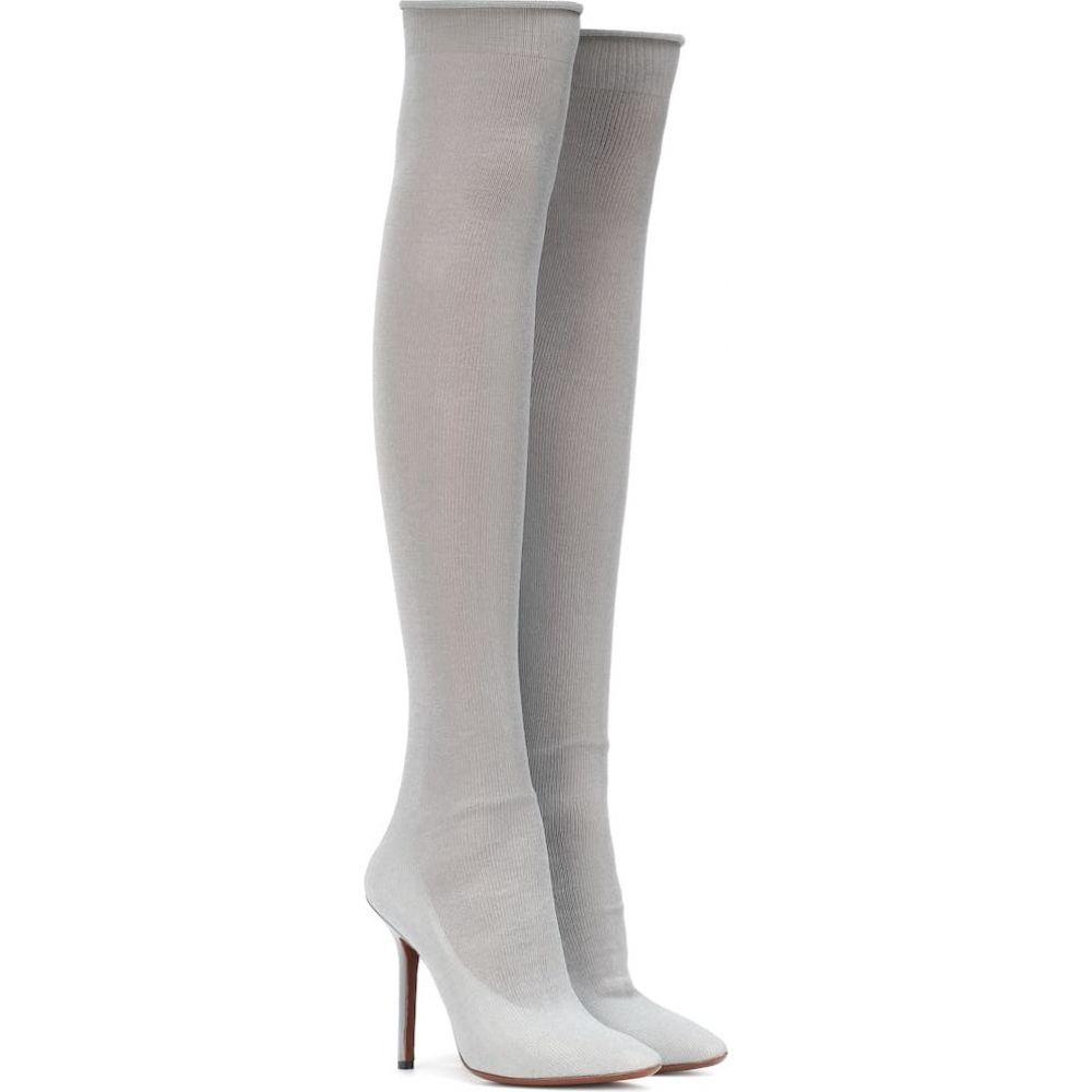 ヴェトモン Vetements レディース ブーツ シューズ・靴【metallic over-the-knee boots】Grey