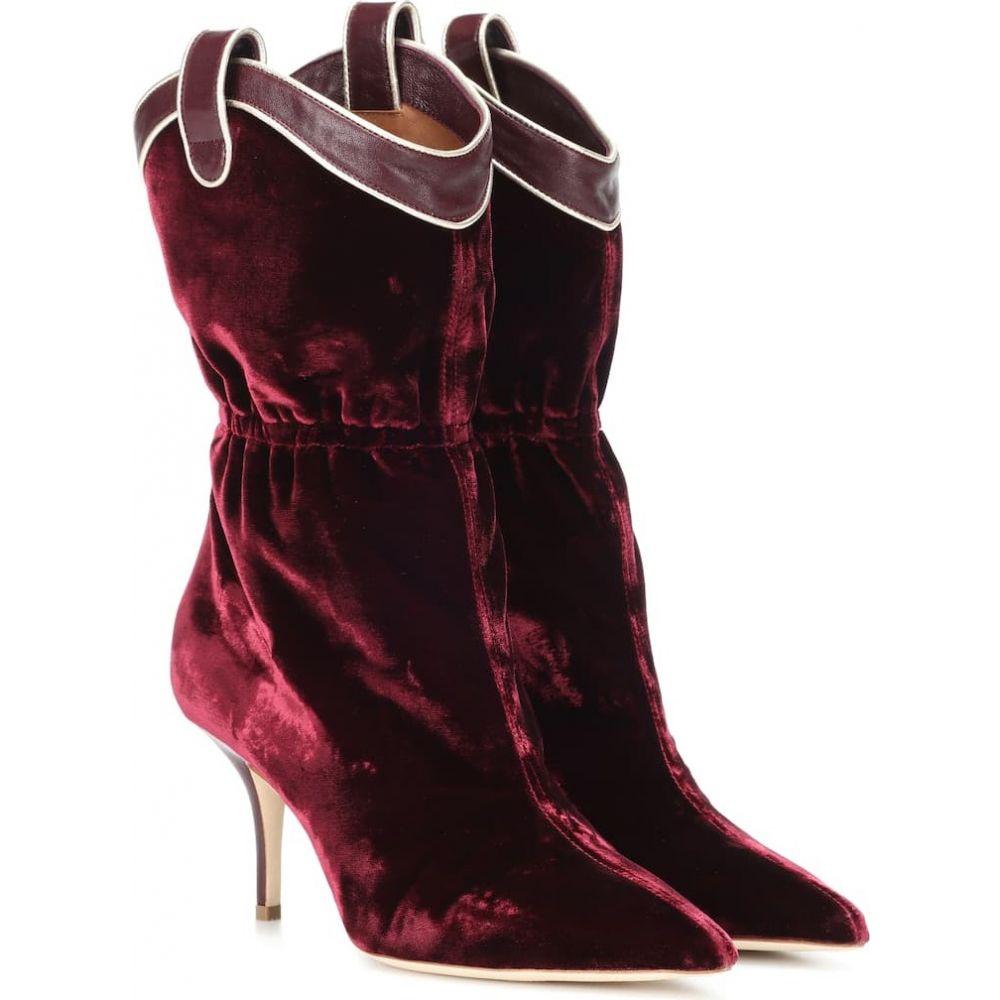 マローンスリアーズ Malone Souliers レディース ブーツ ショートブーツ シューズ・靴【daisy velvet ankle boots】Burgundy/Wine/Platino
