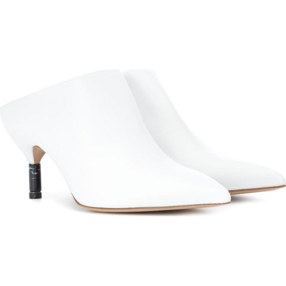 ガブリエラ ハースト Gabriela Hearst レディース サンダル・ミュール シューズ・靴【angelica leather mules】White