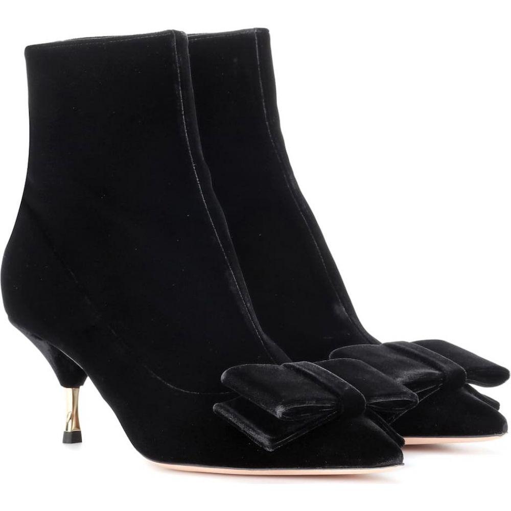 ロシャス Rochas レディース ブーツ ショートブーツ シューズ・靴【velvet ankle boots】Black