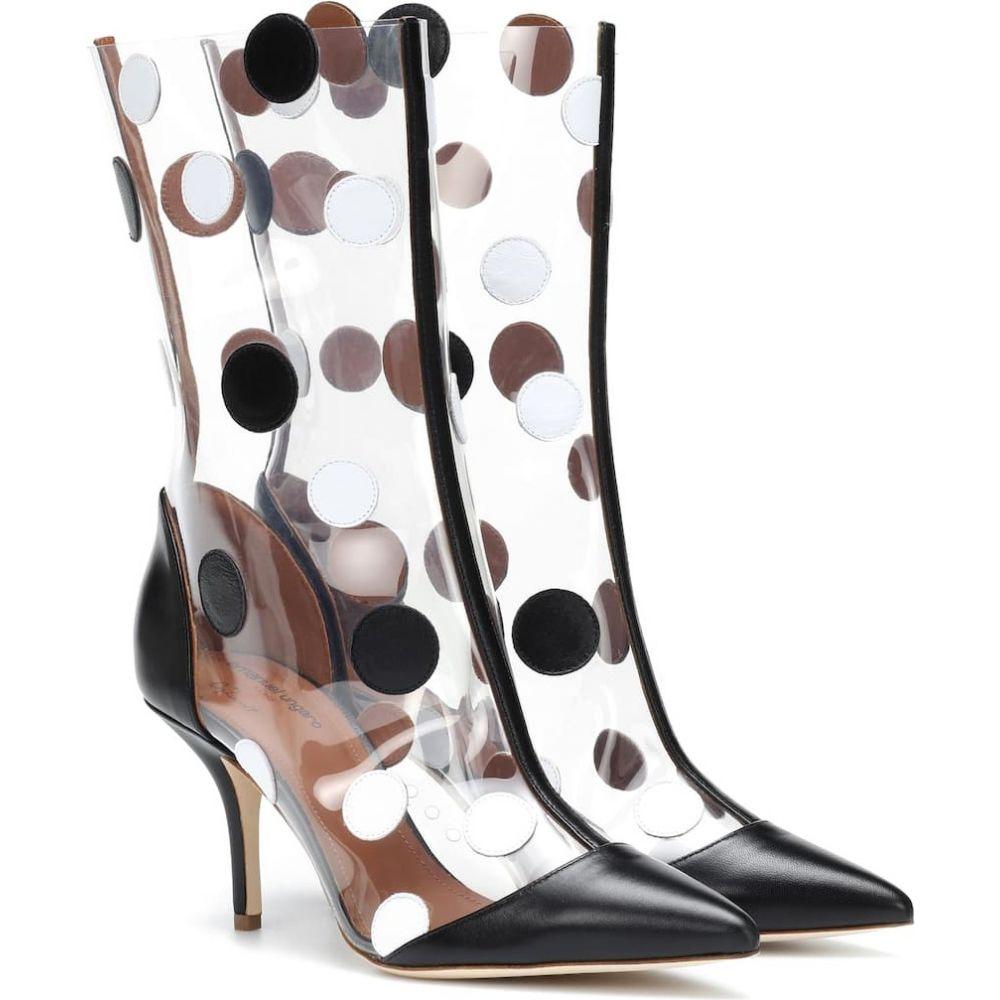 マローンスリアーズ Malone Souliers レディース ブーツ ショートブーツ シューズ・靴【x emanuel ungaro katoucha ankle boots】Black/White