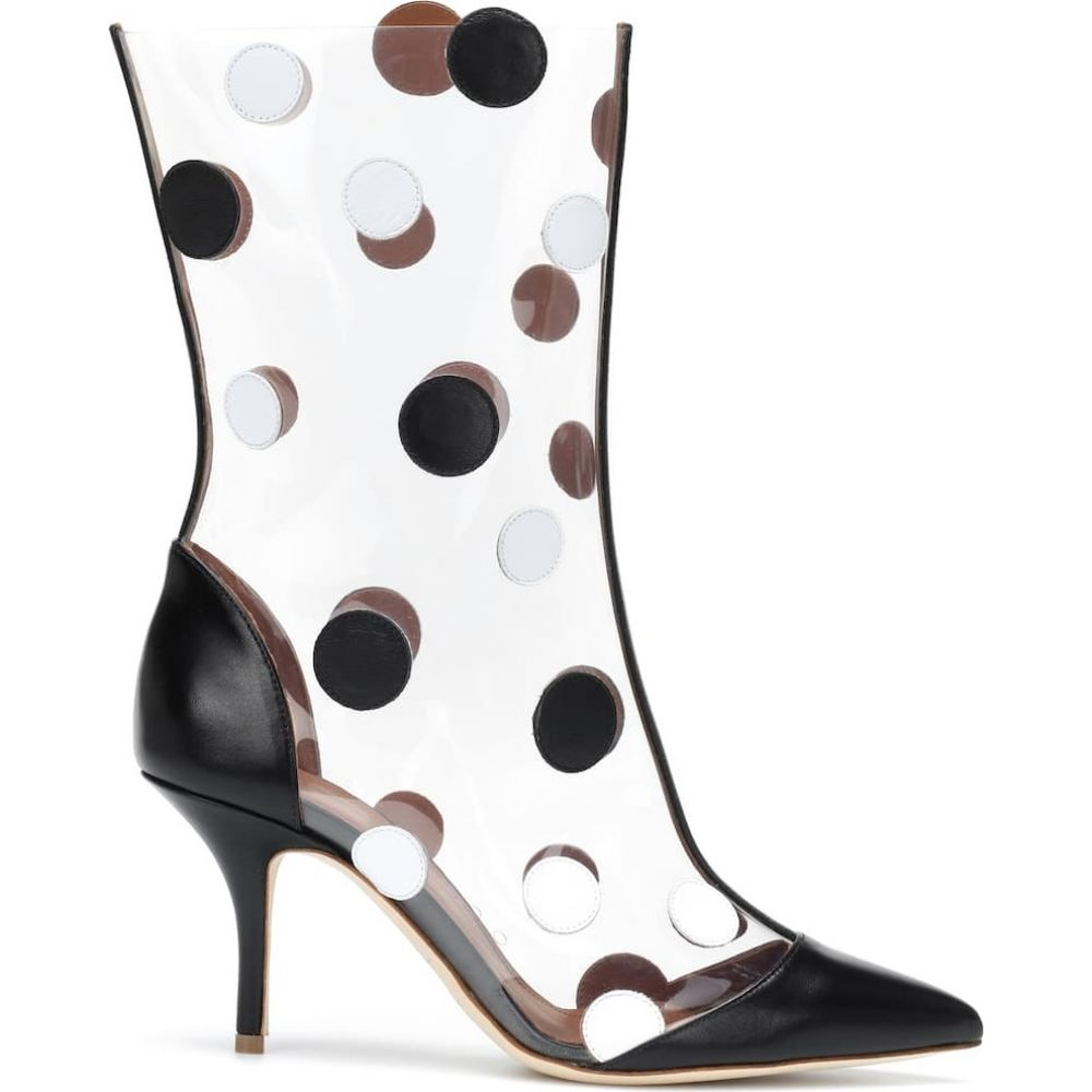 マローンスリアーズ Malone Souliers レディース ブーツ ショートブーツ シューズ・靴 x emanuel ungaro katoucha ankle boots Black WhitevNnwmyO80P