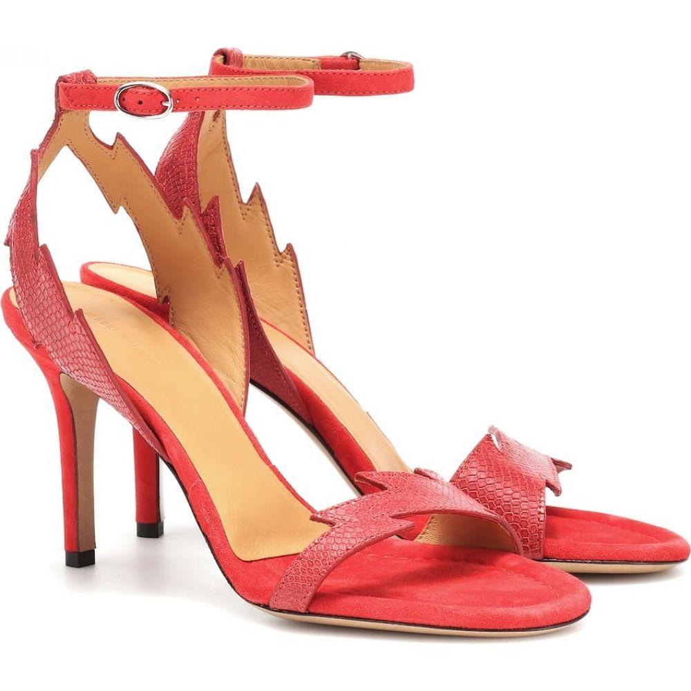 イザベル マラン Isabel Marant レディース サンダル・ミュール シューズ・靴【allistee embossed leather sandals】red