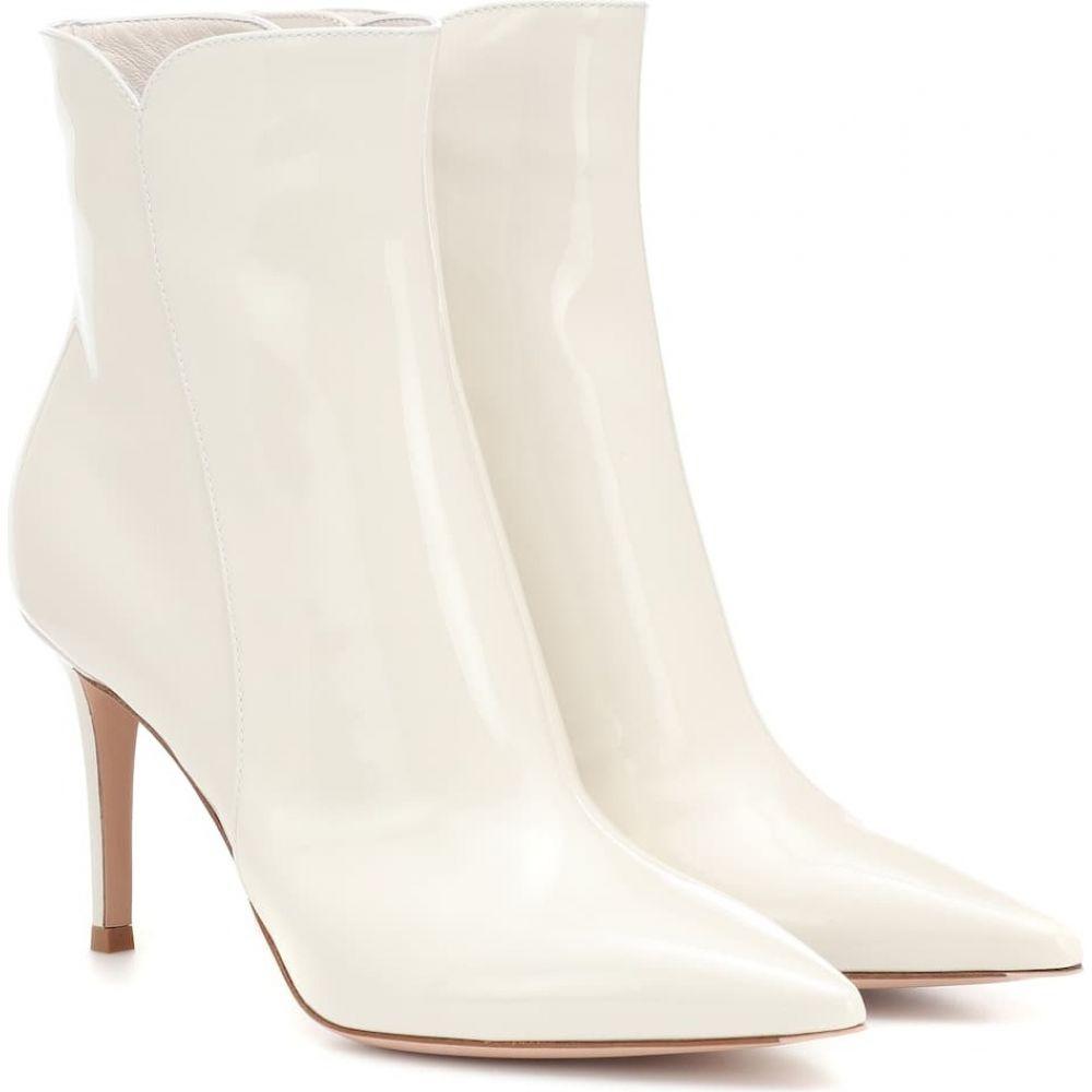 ジャンヴィト ロッシ Gianvito Rossi レディース ブーツ ショートブーツ シューズ・靴【levy 85 leather ankle boots】Offwhite