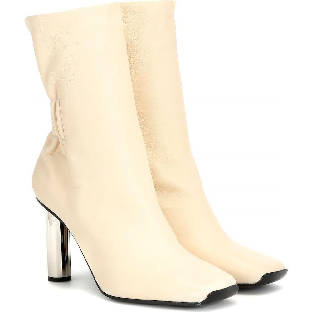 プロエンザ スクーラー Proenza Schouler レディース ブーツ ショートブーツ シューズ・靴【leather ankle boots】Ecru/Silver