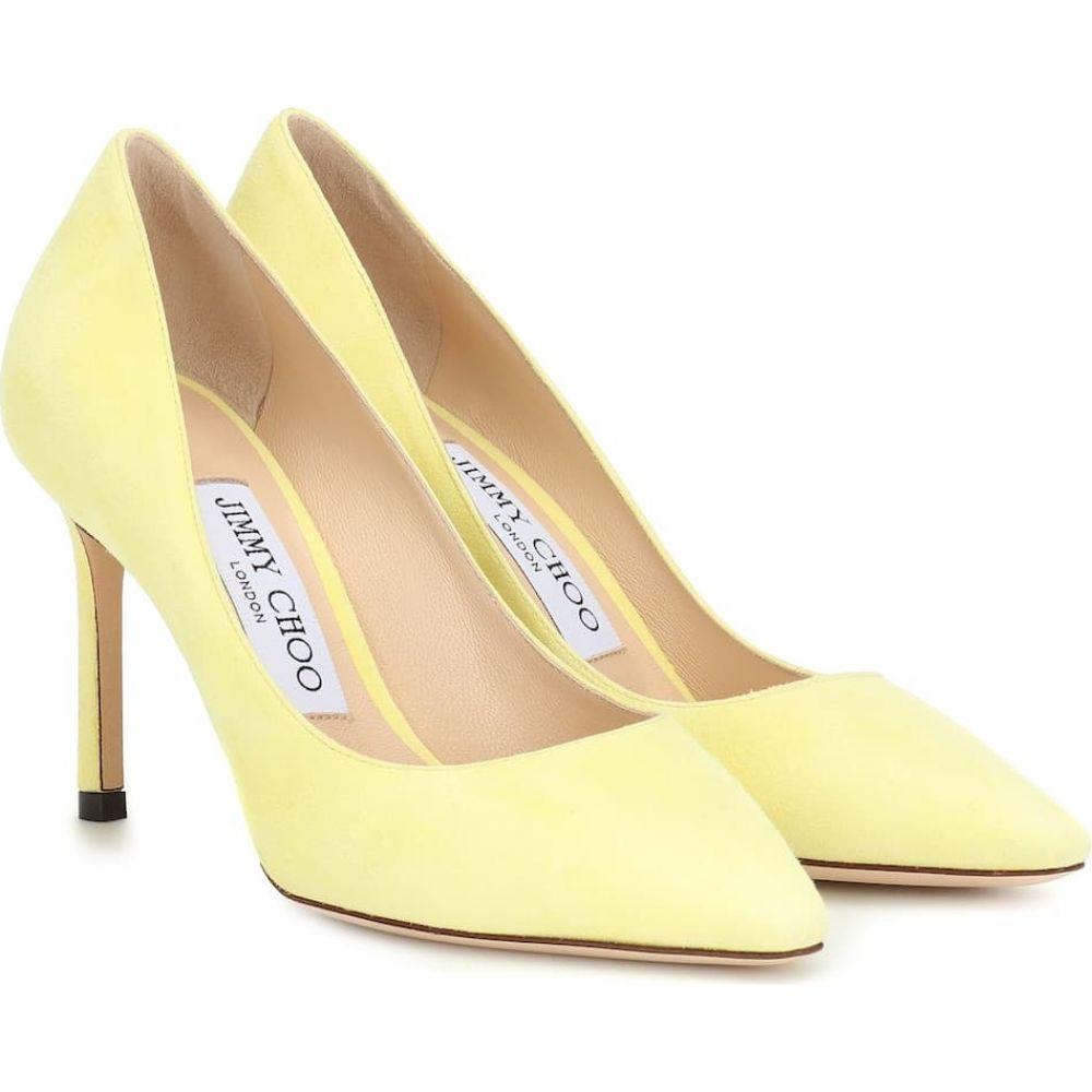 ジミー チュウ Jimmy Choo レディース パンプス シューズ・靴【romy 85 suede pumps】Pale Yellow