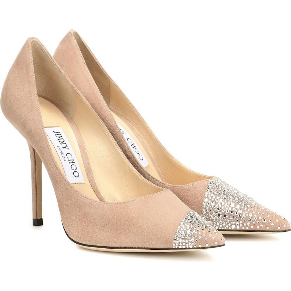 ジミー チュウ Jimmy Choo レディース パンプス シューズ・靴【love 100 embellished suede pumps】Ballet Pink Crystal